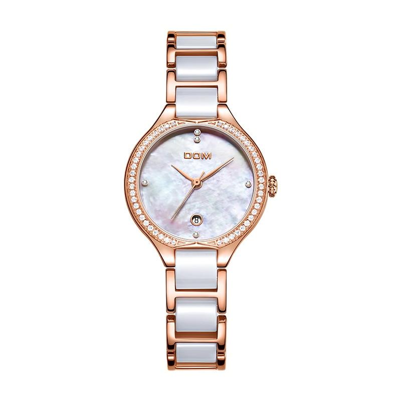 DOM watch women watches Top luxury famous brand ladies wristwatch female clock rose Gold ceramic reloj mujer relogio feminino