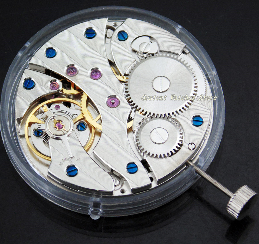 High quality 17Jewels ST36 Mechanical Hand Winding 6497 Watch Movement Men's Watch