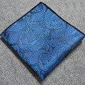 Nuevos Mens Toalla Pecho Toalla Pocket Square Pañuelo de Paisley de Los Hombres Casual de Negocios Traje Tejido Pañuelo de Bolsillo Floral Pañuelo de Impresión