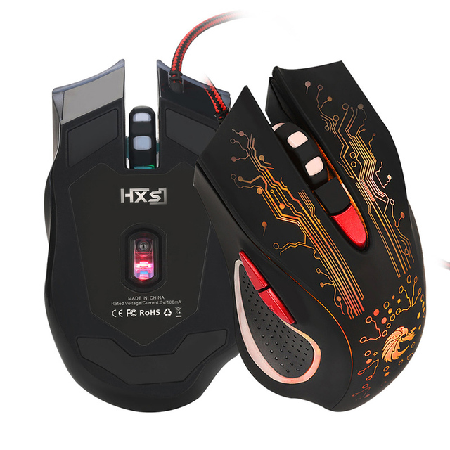 Promotion 5500DPI LED Optical 6D USB Wired Gaming Game Mouse Pro Gamer Computer Mice For PC Laptop Computer Gamer High Quality