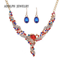 ADOLPH Jewelry for Women Shiny Accessories Small Spiral Simple Crystal Y Style Jewelry Set Personality Necklace and Earrings