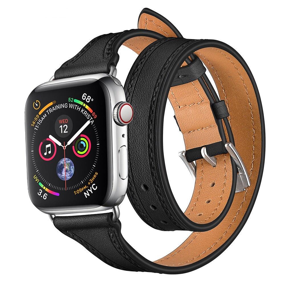 LNOP cinturino In Vera Pelle Per Apple orologio 4 band 42mm 38mm 44mm 40mm iwatch 4/ 3/2/1 watch band hermes cuoio del braccialetto del polso