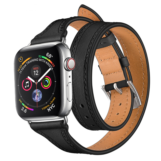 ea3c5c43628 LNOP Genuine Leather strap For Apple watch 4 band 42mm 38mm 44mm 40mm  iwatch 4 3 2 1 watch band hermes leather wrist bracelet