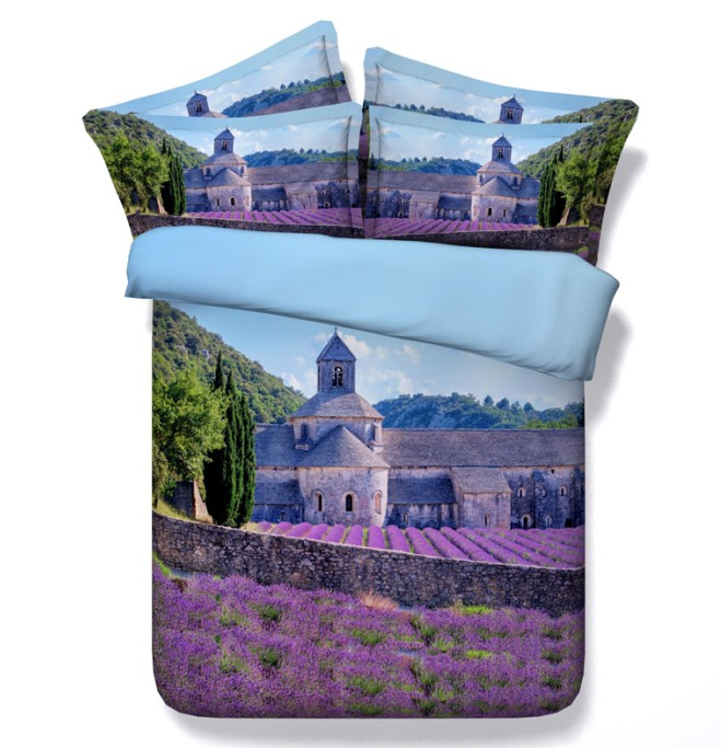 Ensemble de literie bleu violet lavande ensemble de couette queen super king size housse de couette drap de lit couvre-lits double double