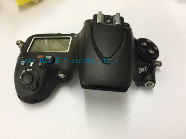 95%New For Nikon D800 Top Cover Shell Unit with Top Lcd, Flash Board, Flex cable FPC Camera Replacement Repair Parts free shipping d610 top cover for nikon d610 with flash board top lcd fpc unit slr camera repair replacement parts