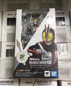 "Image 5 - Original BANDAI Tamashii Nations S.H.Figuarts SHF Action Figure   Kamen Rider Faiz 20 Kamen Rider Kicks Ver. ""Kamen Rider Faiz"""