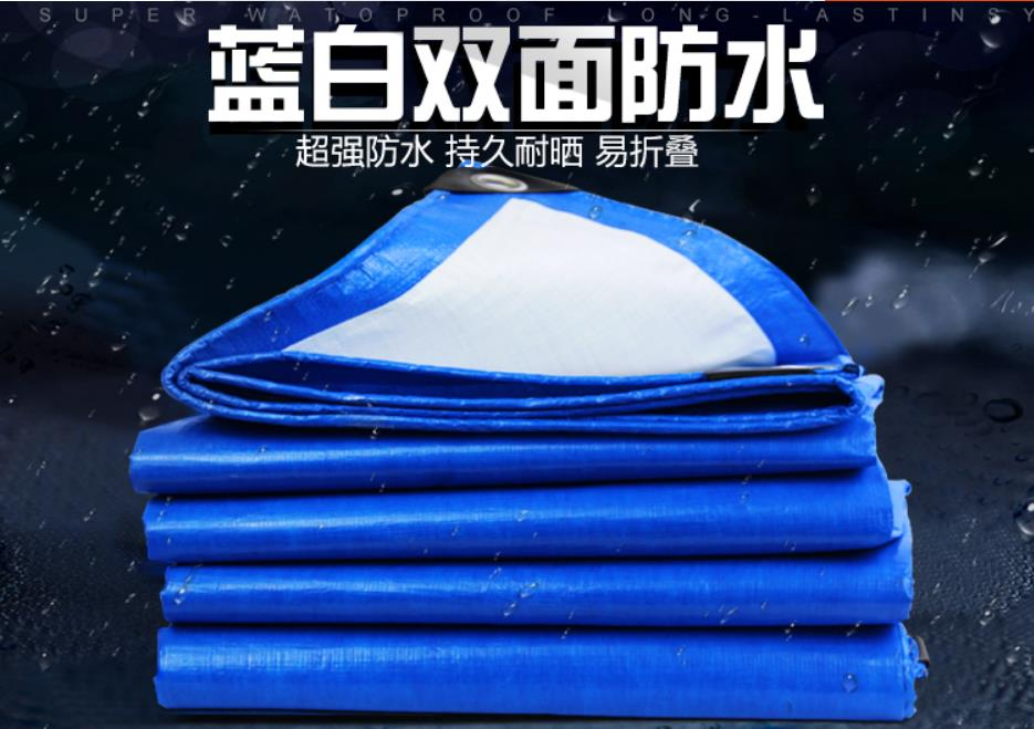Customize Multiple Dimensions Blue And White Outdoor Cover Cloth, Waterproof Canvas, Rain Tarpaulin, Truck Tarp.