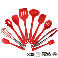 10Pcs Set Silicone Cooking Tools Drinking Kitchen Kitchenware Dinnerware Tableware Accessories Supplies Gear Stuff Product