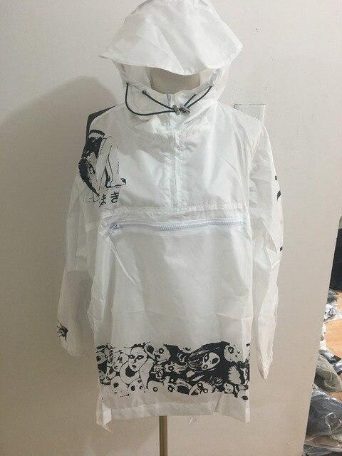 Бренд frightencomics пальто длинный солнцезащитный крем водонепроницаемой одежды плюс размер панк ветровки женщины любители Ужас Манга куртки W77