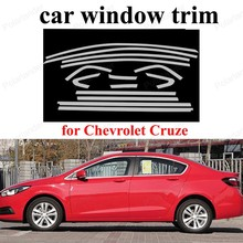 Window Trim For C-hevrolet C-ruze 2015 Car Exterior Accessories Stainless Steel Styling  Decoration Strips