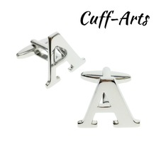 Cufflinks For Men A-Z Alphabet  Personality Mix&Match Choose 2 Different Letters Initials With Gift Box By Cuffarts C10071