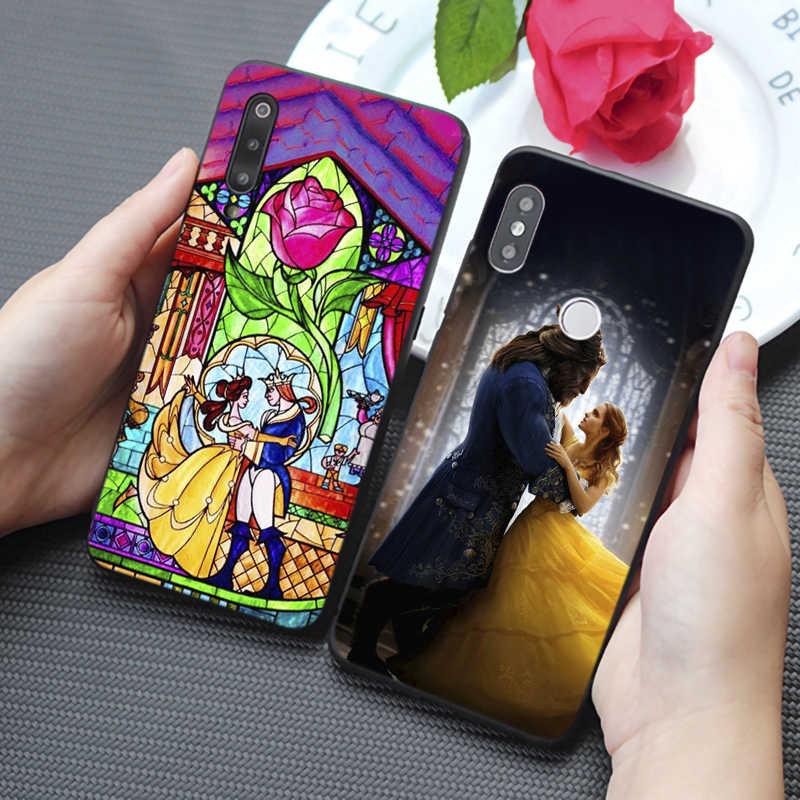 Bella bestia Rosa princesa arte lindo duro silicona suave funda de teléfono para samsung galaxy a50 a70 a30 a40 a20 s8 s9 s10 plus