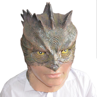 2017 New Hot Selling Lizard Man latex Mask Adult Size Halloween costume mask for men/women