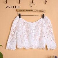 ZYLLGF Cheap Half Sleeve Bridal Lace Bolero Women Bridal Wrap For Wedding Dress Made In China WBJ6