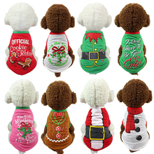1PC New Polyester Christmas Pullover Hoodies Dog Clothes Cat Santa Pet Dog Shirt  Puppy Sweater  Clothes Casual