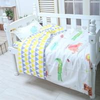 พร้อมบรรจุ Nordic สไตล์ผ้าฝ้ายชุดเครื่องนอนชุดรูปแบบแคคตัสทารกผ้าปูที่นอนสำหรับทารกแรก
