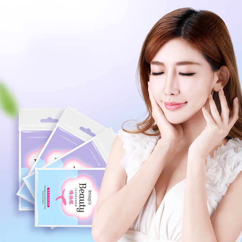 Images 100pcs/pack Oil Blotting Sheets Face Cleanser Deep Cleaning Blackhead Remover Acne Treatment Oil Control Skin Care