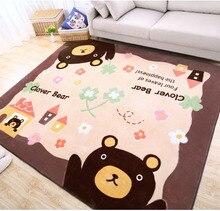 Kingart Cartoon Big Yoga Carpet Children Floor Mat Kid Room Thick Fur tapete Baby Bedroom Rug And Carpets For Living Room Tapis