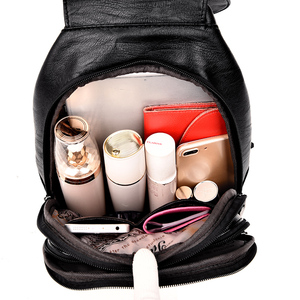 Image 5 - 2019 المرأة حقيبة ظهر مصنوعة من الجلد خمر حقيبة كتف الإناث كيس دوس السفر السيدات على ظهره Mochilas الحقائب المدرسية للفتيات Preppy
