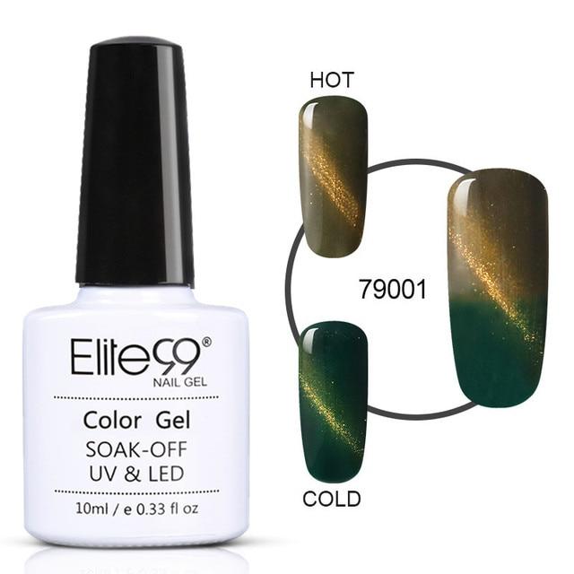 Elite99 10ML Thermische Magnetische 3D Katze Auge Chameleon Glitter Gel Polish Temperatur Farbwechsel Soak Off UV Gel Lack