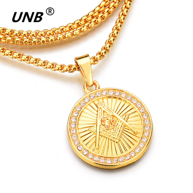Unb hip hop gold color freemason masonic necklaces bling compass g unb hip hop gold color freemason masonic necklaces bling compass g pendants crystal jewelry masonic temple aloadofball Gallery