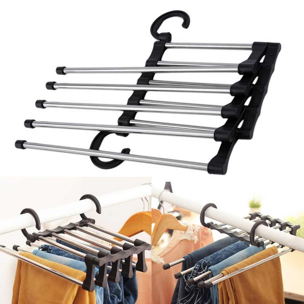 1pc Closet Organizer Trouser Pants Ties Scarf Shawl Rack Hanger Household Clothes Organizer Clothing Storage Rack Drying rack
