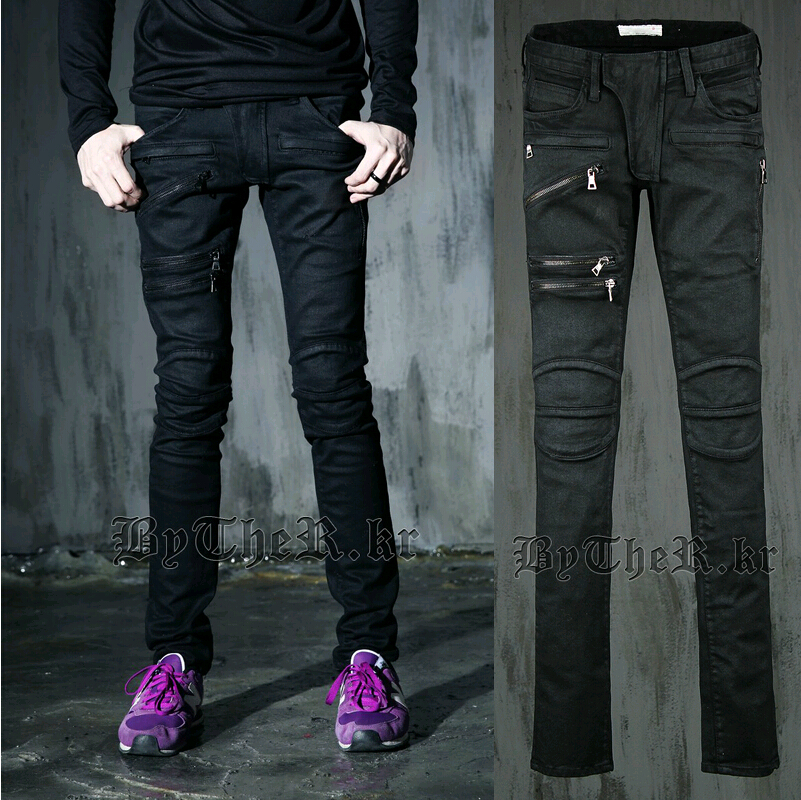 Aliexpress.com : Buy Harajuku 2014 Gothic Zipper Skinny Slim Fit ...