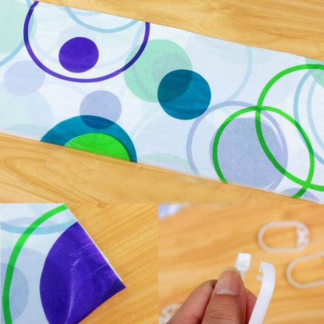 Tenda del bagno impermeabile Piazza Modello Home decor Bagno Doccia Tenda PEVA doccia tenda in tessuto INVIO casuale