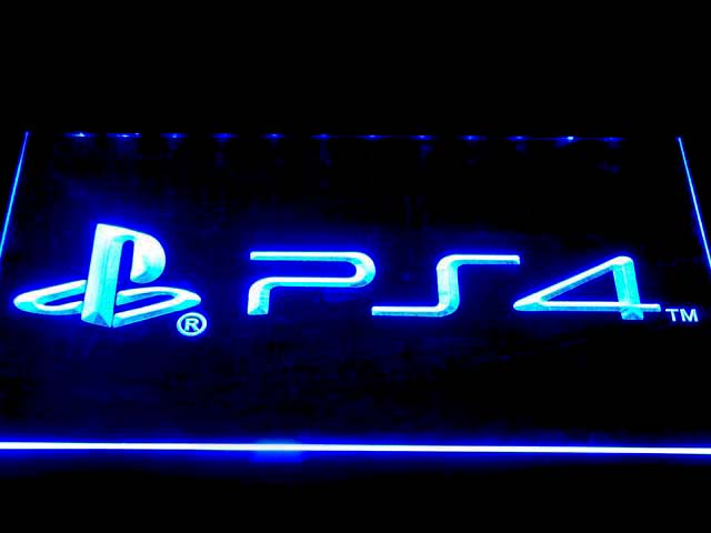 tm7697 Playstation 4 PS4 LED Neon Sign with On Off Switch 7 Colors 4 Sizes to
