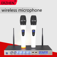 ERZHEN U333T UHF 8 Handheld Wireless Microphone Dynamic Capsule Family Party Balanced+Unbalanced Output Wireless Microphone+KTV все цены