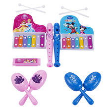 Disney Mickey Princess Juguetes Musical Instruments Toys Set Educational Kids Gifts Christmas for Children Boys Girls Xmas