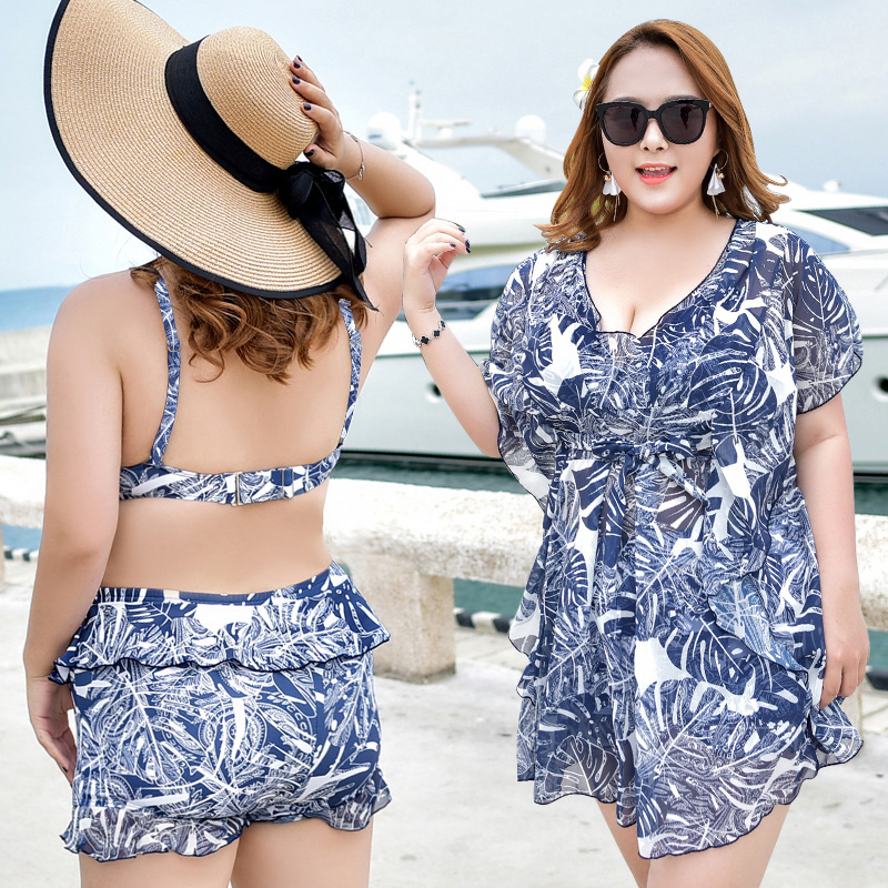 2018 Female High Waist Swimwear Women Swimsuit Femme Sexy Push Up Bikini Cover Ups Big Bust Plus Size Swim Wear Maillot De Bain lena gaga swimsuit cover up set bikini 2017 xxxl xl vintage bikini retro fat breast big bust bow bikini plus size swimwear women