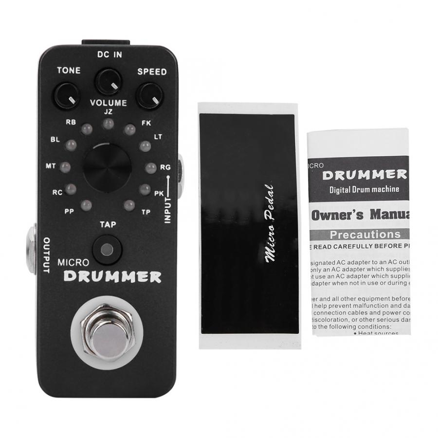 Guitar Replacement Protector Tap Tempo Control Micro Drummer Digital Drum Machine Effect Pedal Guitar Accessories Electric