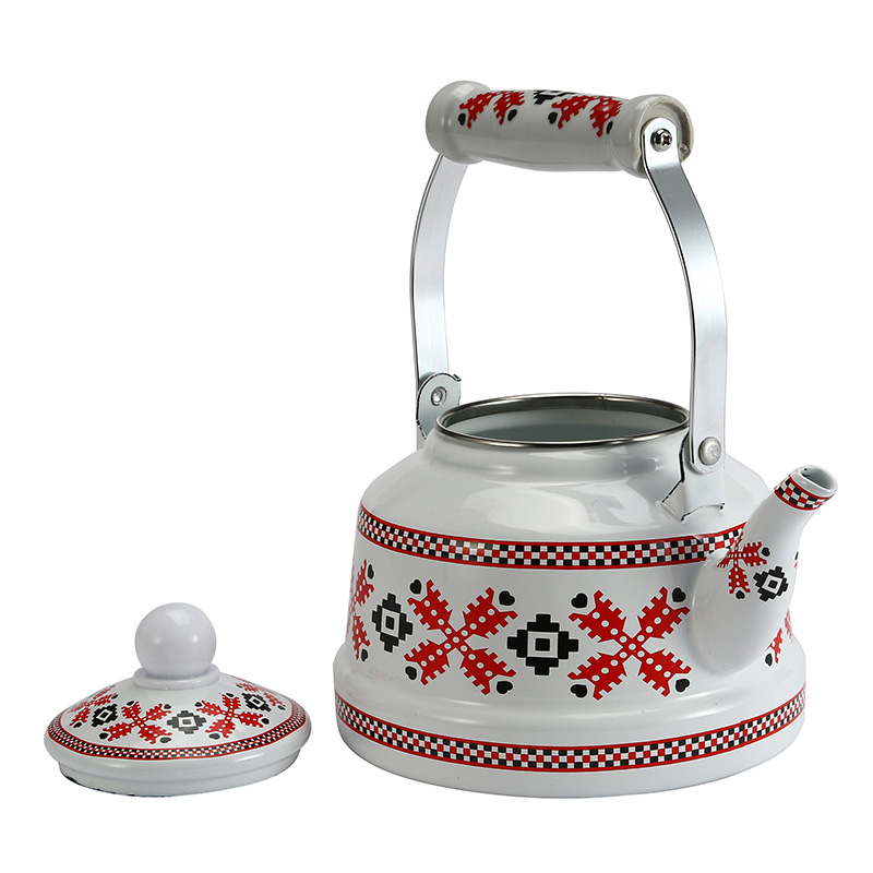 1 1L 1 7L 2 5 L Braided Pattern Enamel Water Pot Coffee Tea Pot Chinese Traditional Creative Water Kettle for Home Kitchen in Water Kettles from Home Garden