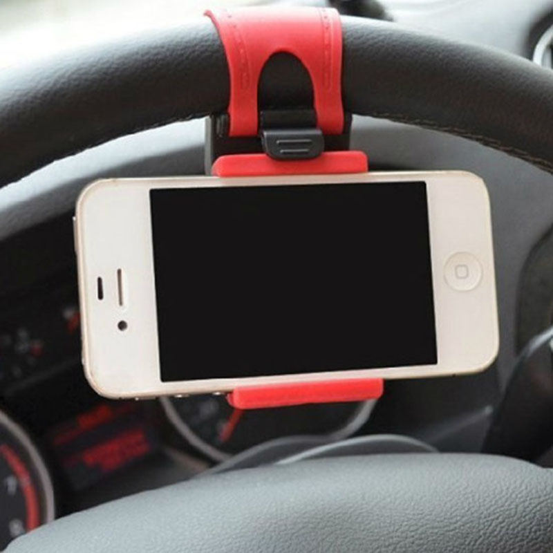 Universal Car Auto Steering Wheel socket navigate Case Holder Stand for iPhone 4 5 6 6S Plus border for cell phone GPS MP4 PDA