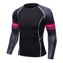 Men Compression Shirts Skin Tight Thermal under Long Sleeve Jerseys Rashguard Crossfit Exercise Workout Fitness Sportswear