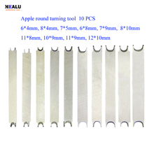 New 6-12mm Oval Apple Round Knife Lathe Wood Bodhi Spherical Drum Turning Tool in stock