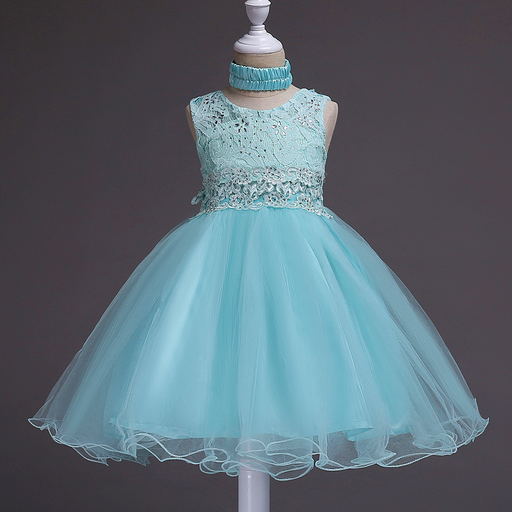New Girls Party Dresses Age 6 8 10 12 to 14 Years Pearls Embroidered ...