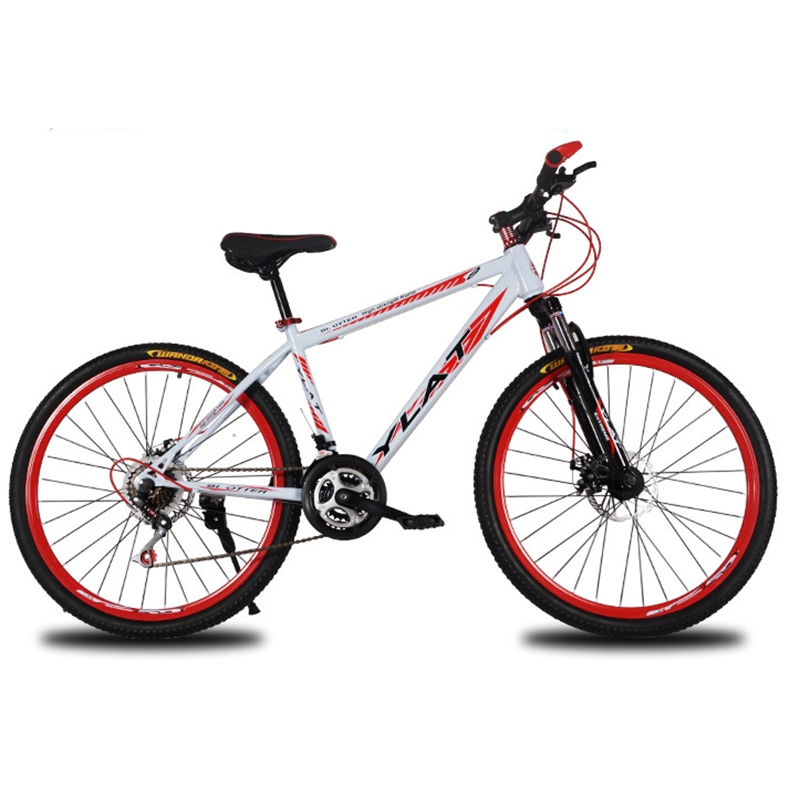 Cycling Road High Carbon Steel 24 Speed 26 Inches Double Disc Brake Hard Frame Urban Recreational Bicycle