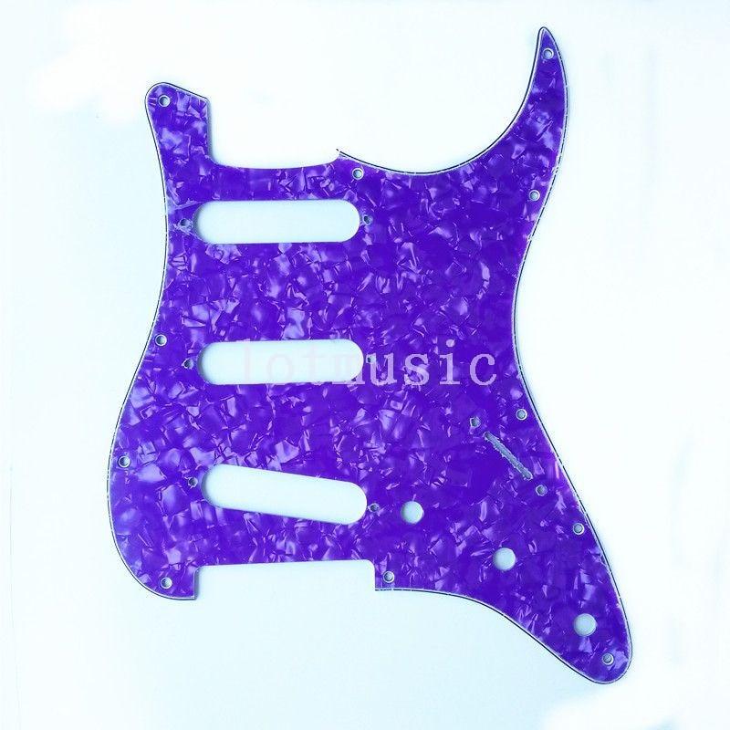 6 pièces lumière violet perle guitare Pickguard SSS 3Ply pour garde-boue Strat remplacement