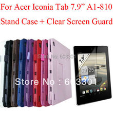 "For Acer Iconia Tab A1-810 7.9"" tablet cover + Clear screen protector, for acer A1 810 case + screen film(China)"