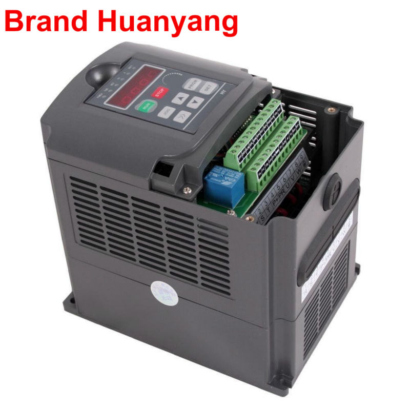 frequency INVERTER 3kw 220v variable frequency drive AC inverter CNC motor speed controller vfd HUANYANG Brand
