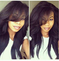 Long Straight Heat Resistant for women african american synthetic wigs