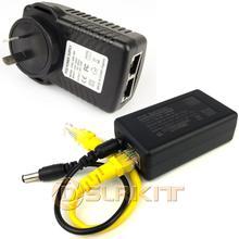 Gigabit 802.3at 24 วัตต์ PoE Kit (Splitter + หัวฉีด) 12V 2A Power Over Ethernet