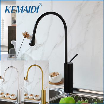 KEMAIDI Basin Faucets Gold Faucet Bathroom Sink Faucet Single Handle Deck Mounted Toilet Hot And Cold Mixer Water Tap
