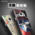 Para Samsung Galaxy Note 5 cobre 3D estéreo da pintura capa Note5 silicone protetor de telefone móvel saco Fundas