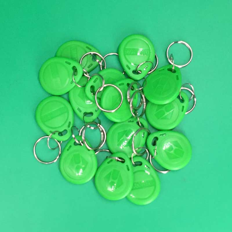 Free Shipping (10 pcs/lot) 125khz RFID Keyfobs Proximity Tags Key Token Smart Tag for Access Control 3 colors 6pcs lot 13 56mhz rfid ic key tags keyfobs token nfc tag keychain for arduino m1k