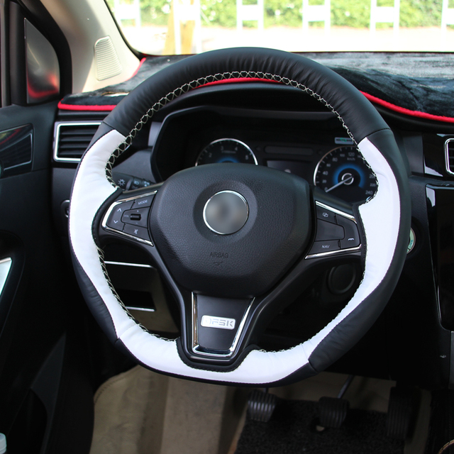 1pc For Dongfeng Dfsk 580 Steering Wheel Cover Hand Seams Non Slip Decorate