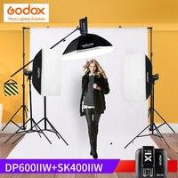 Godox dp600ii + sk400ii Осветительные стойки комплект съемки таблице Аксессуары для фотостудий строба вспышки света 110 В/220 В с 50 Вт моделирование ламп