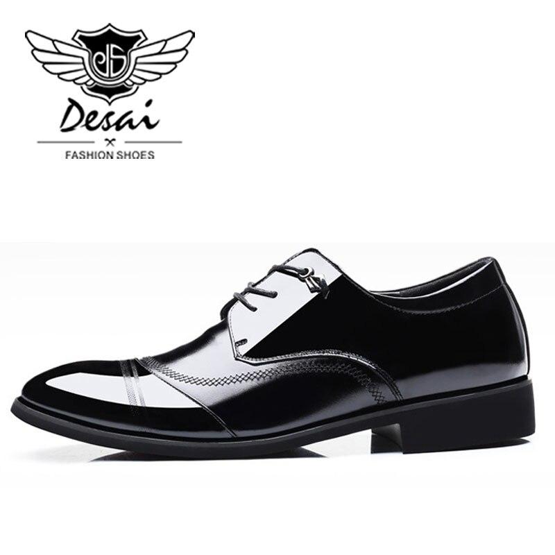 DESAI Marke Echtem Leder Formale Schuhe Mann Business Weichen Boden Männer Schuhe Wies Top Schuhe Mode Hochzeit Schuh Frühling Neue-in Oxford-Schuhe aus Schuhe bei  Gruppe 3